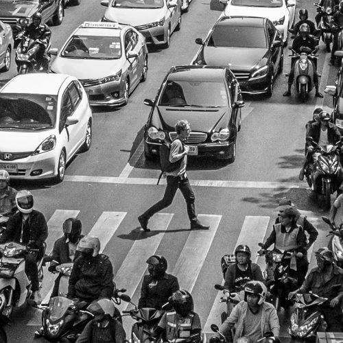 Ľudia a street